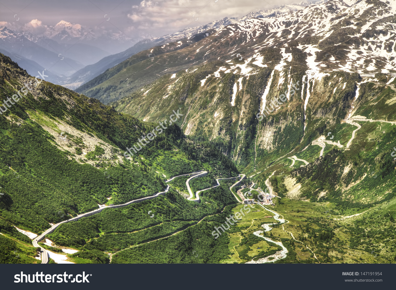 Furka Grimsel Pass Mountain Roads Swiss Stock Photo 147191954.