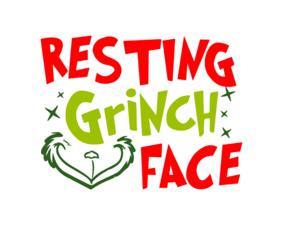 Resting Grinch Face Digital DXF.