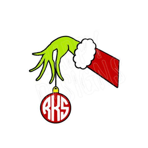 Hand Ornament SVG, Ornament Svg File, Christmas SVG, Cricut Cut.
