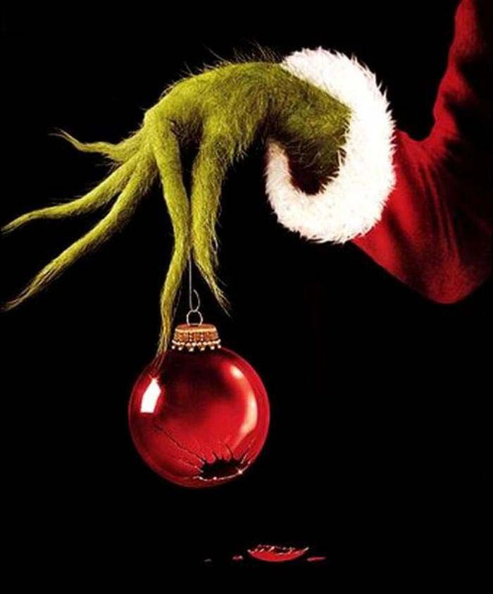 free clipart grinch holding ornament outline #16.