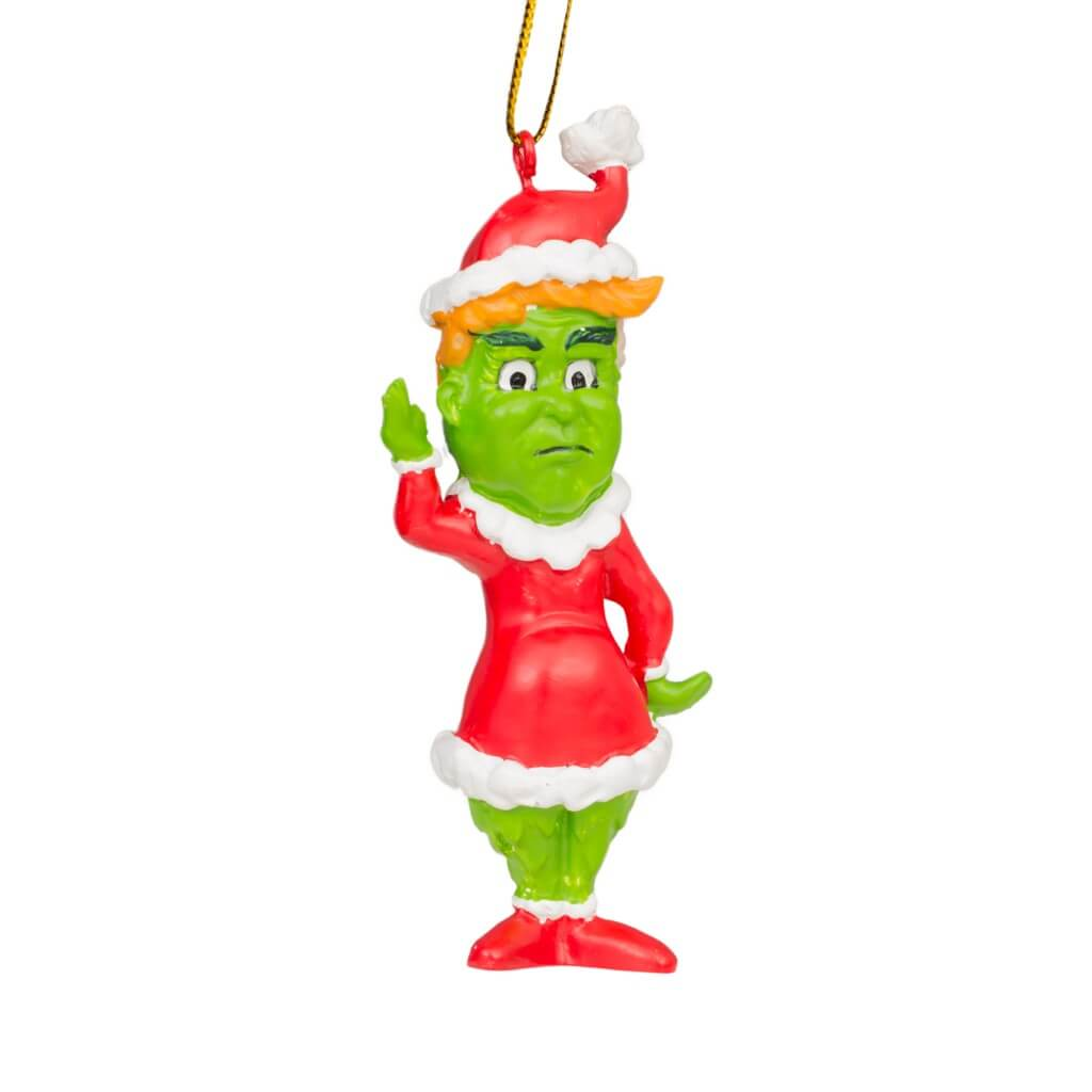 Trump Grinch Christmas Tree Ornament Decoration.