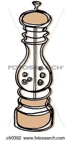 Clip Art of A pepper grind cfr0352.