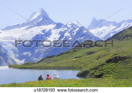 Stock Photo of Bachalpsee lake, Grindelwald, Switzerland u18728193.