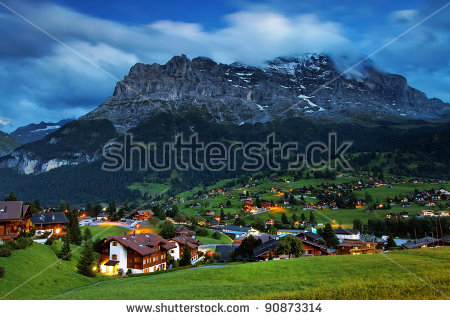Grindelwald Village Eiger Peak Switzerland Stock Photo 82939648.