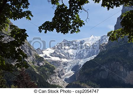 Picture of Alpine glacier (Grindelwald, Switzerland).