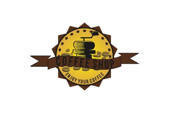 Coffee grinder logo.