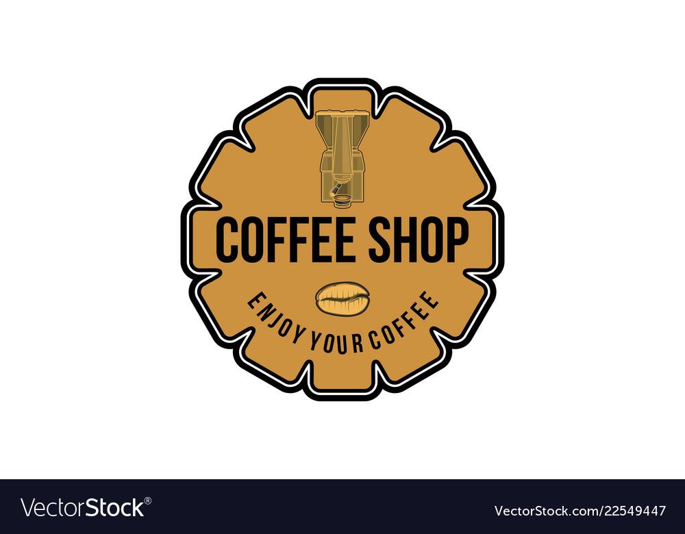 Vintage grinder coffee logo designs inspiration.