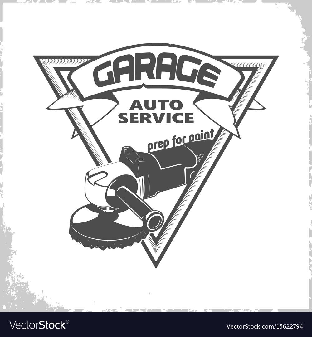 Garage grinder logo.