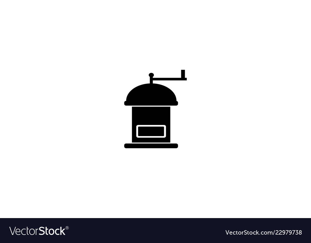 Coffee grinder logo designs inspiration isolated.