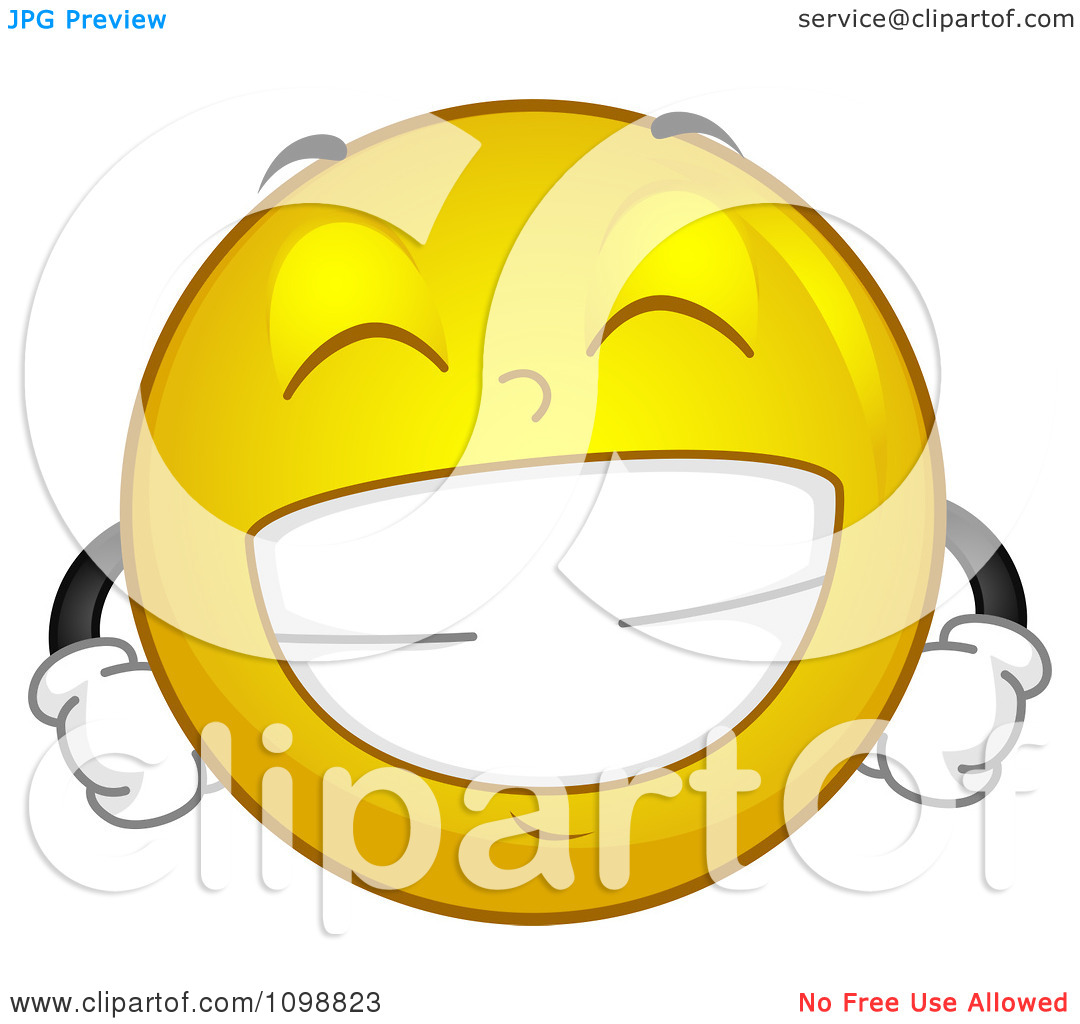 Clipart Yellow Grinning Smiley Emoticon.