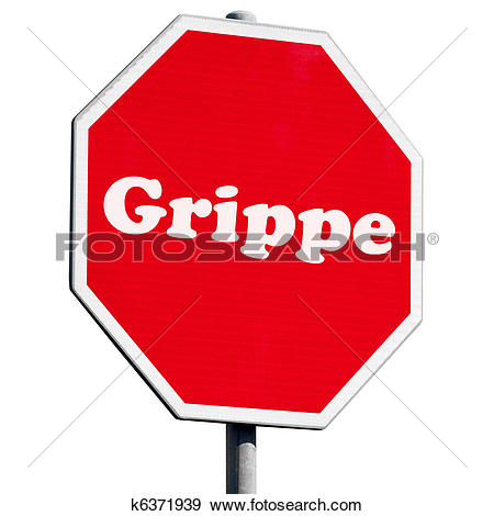Stock Photograph of Grippe Stop Sign k6371939.