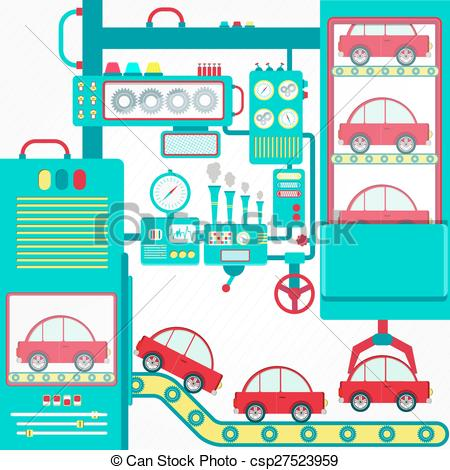 Clipart Vector of Industry of car.