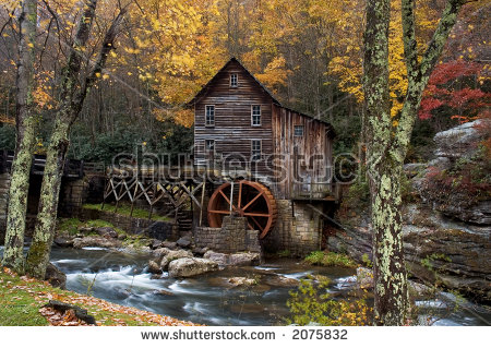 Grist Mill Stock Photos, Royalty.