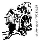 19 grist mill clipart.