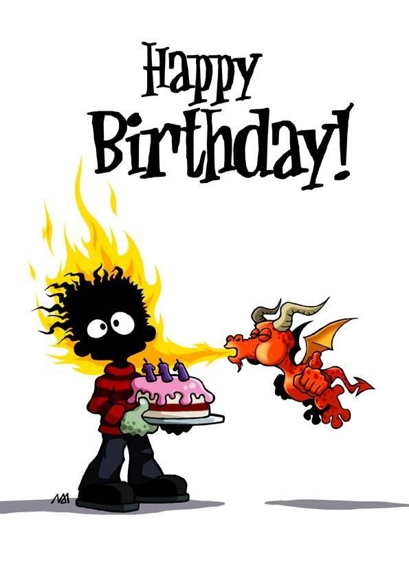 Happy Birthday Comic.