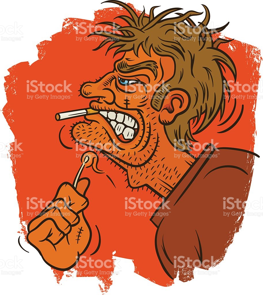 Grizzled Match Strike stock vector art 527568401.