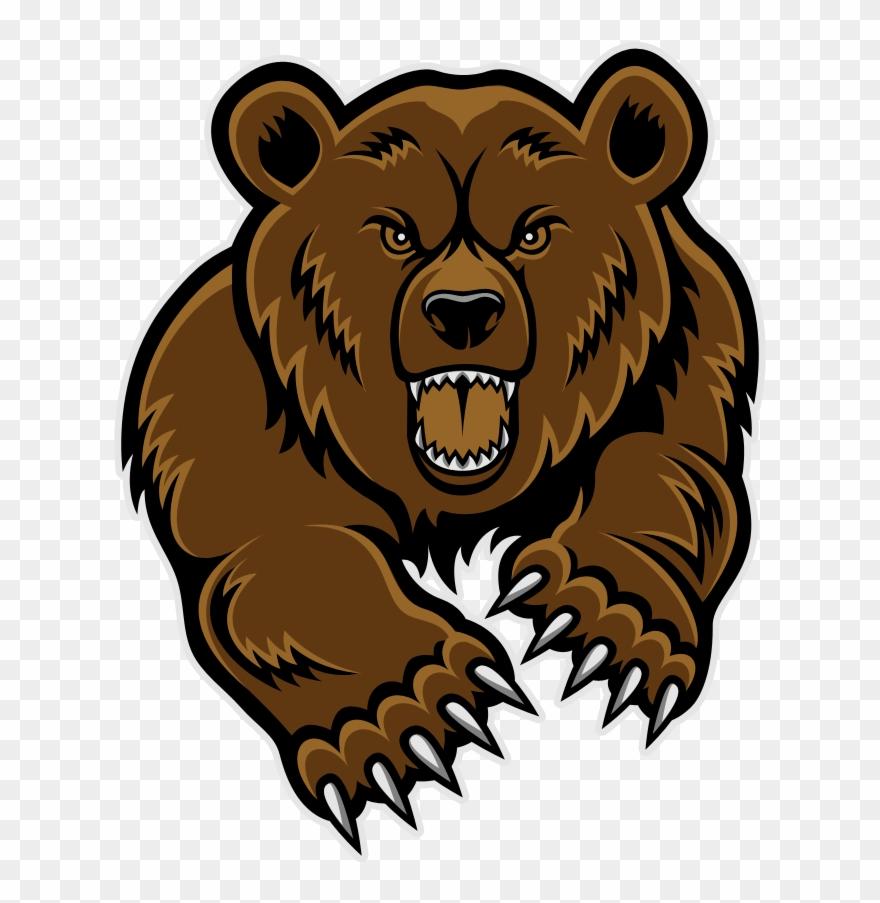 Grizzly Bear Head Clip Art.