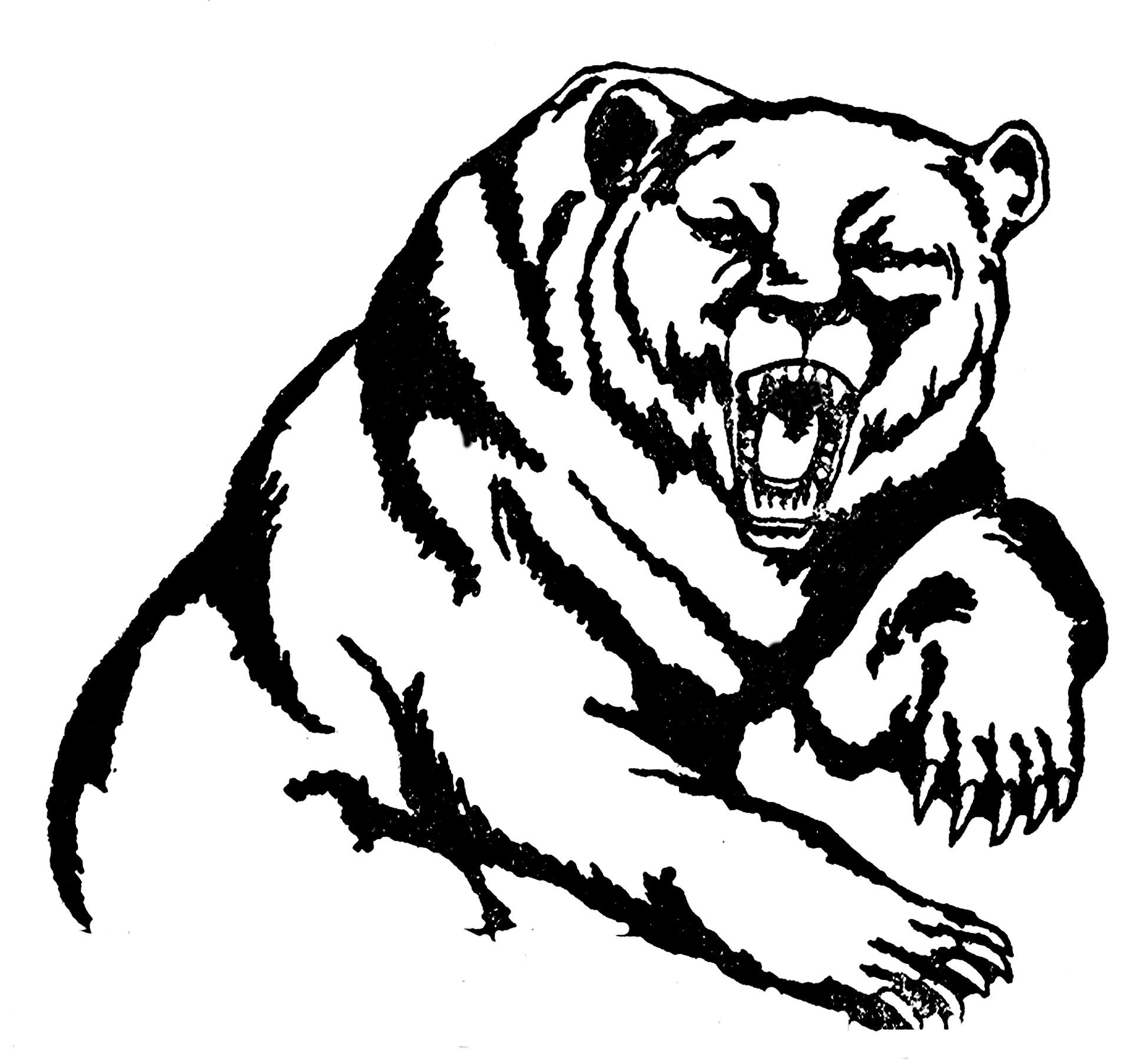 20904 Bear free clipart.