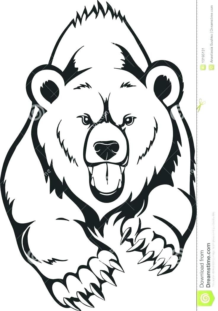Collection of Grizzly bear clipart.