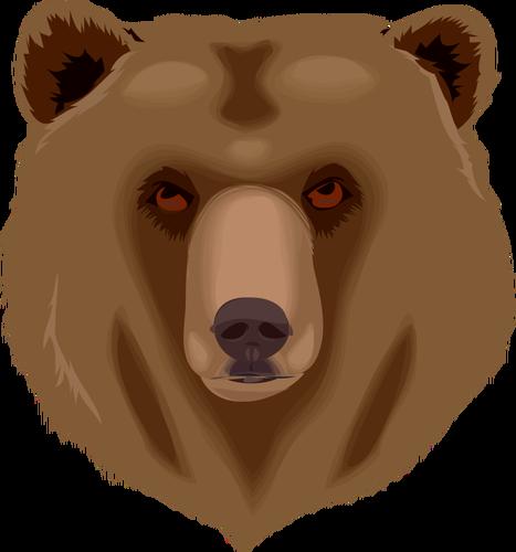 Grizzly bear\'s head vector clip art.