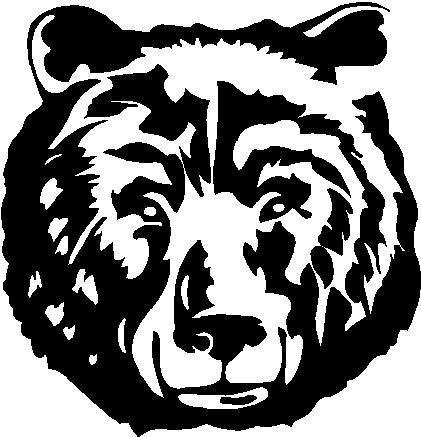 Amazon.com: NI599 Grizzly Bear Face Decal.
