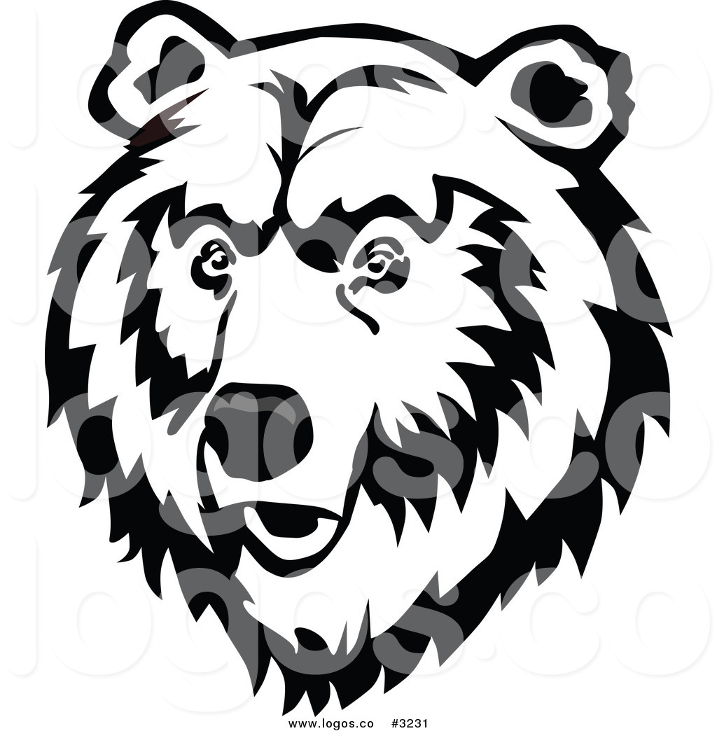 Grizzly Bear Clipart Black And White Free.