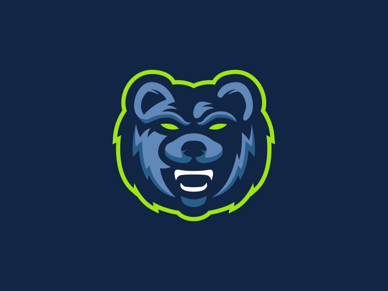 Grizzly Bear Mascot Logo by Kyle Papple on Dribbble.