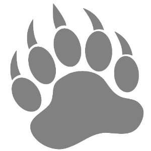 Bear claw grizzly bear paw print clipart clipartfest.