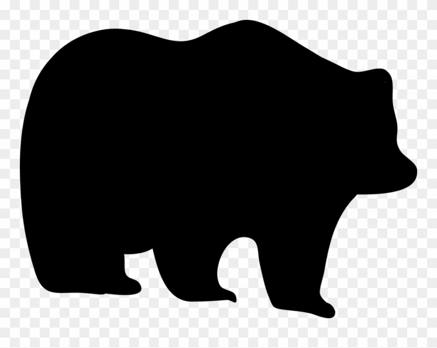 Bear,Grizzly bear,Clip art,Black.