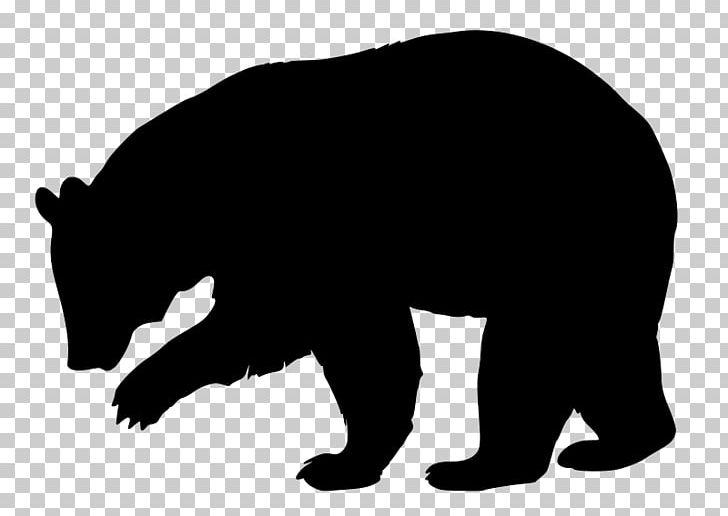 American Black Bear Brown Bear Silhouette PNG, Clipart, American.