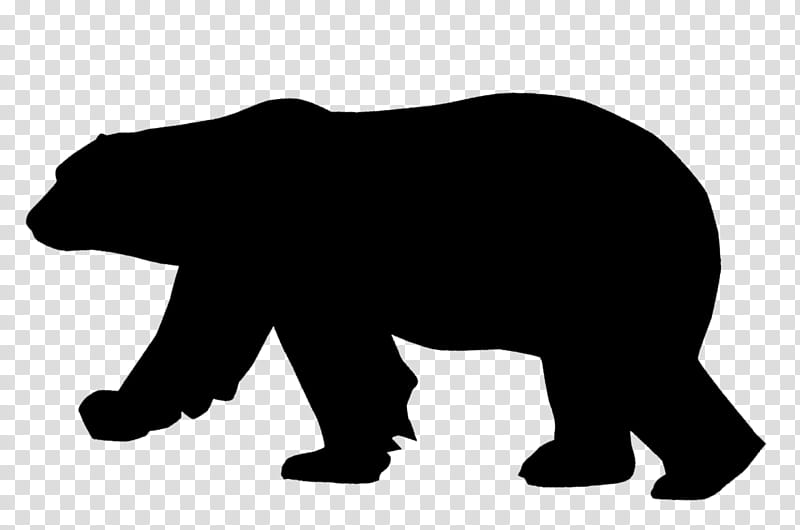 Polar Bear, American Black Bear, Silhouette, Pizzly.