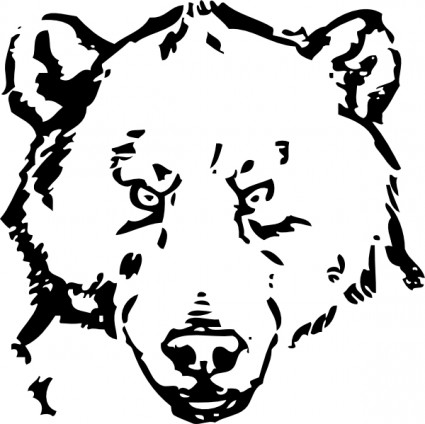 Grizzly bear paw clip art.
