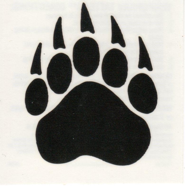 Grizzly Paw Print Tattoo Grizzly bear paw print tattoo.