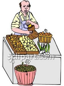 Grocer Clip Art Picture.