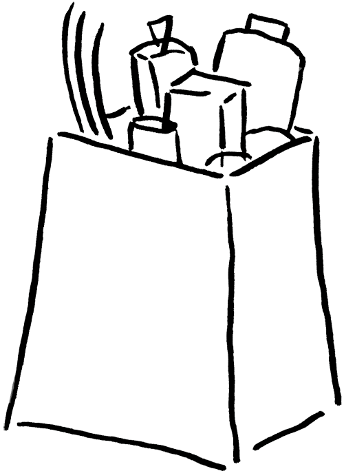 Groceries Clipart.