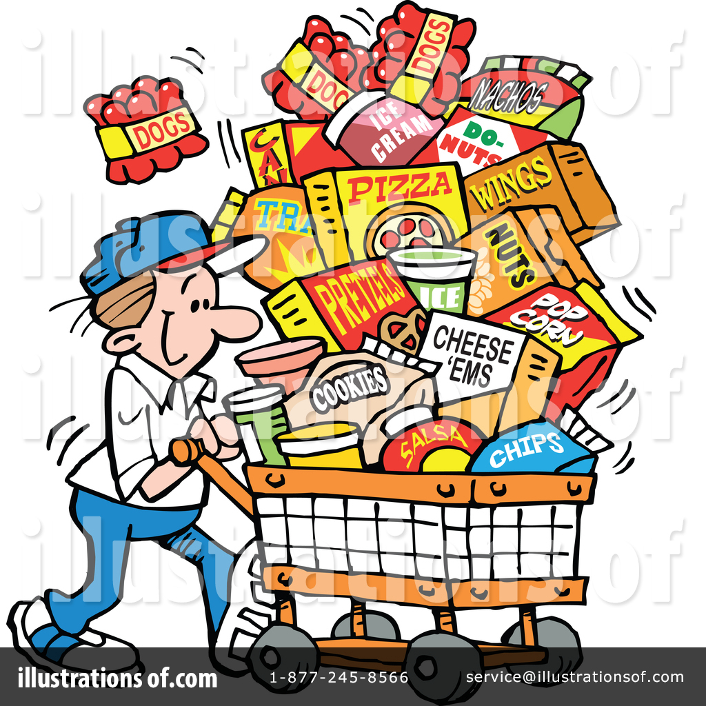 Groceries Clipart #1408267.