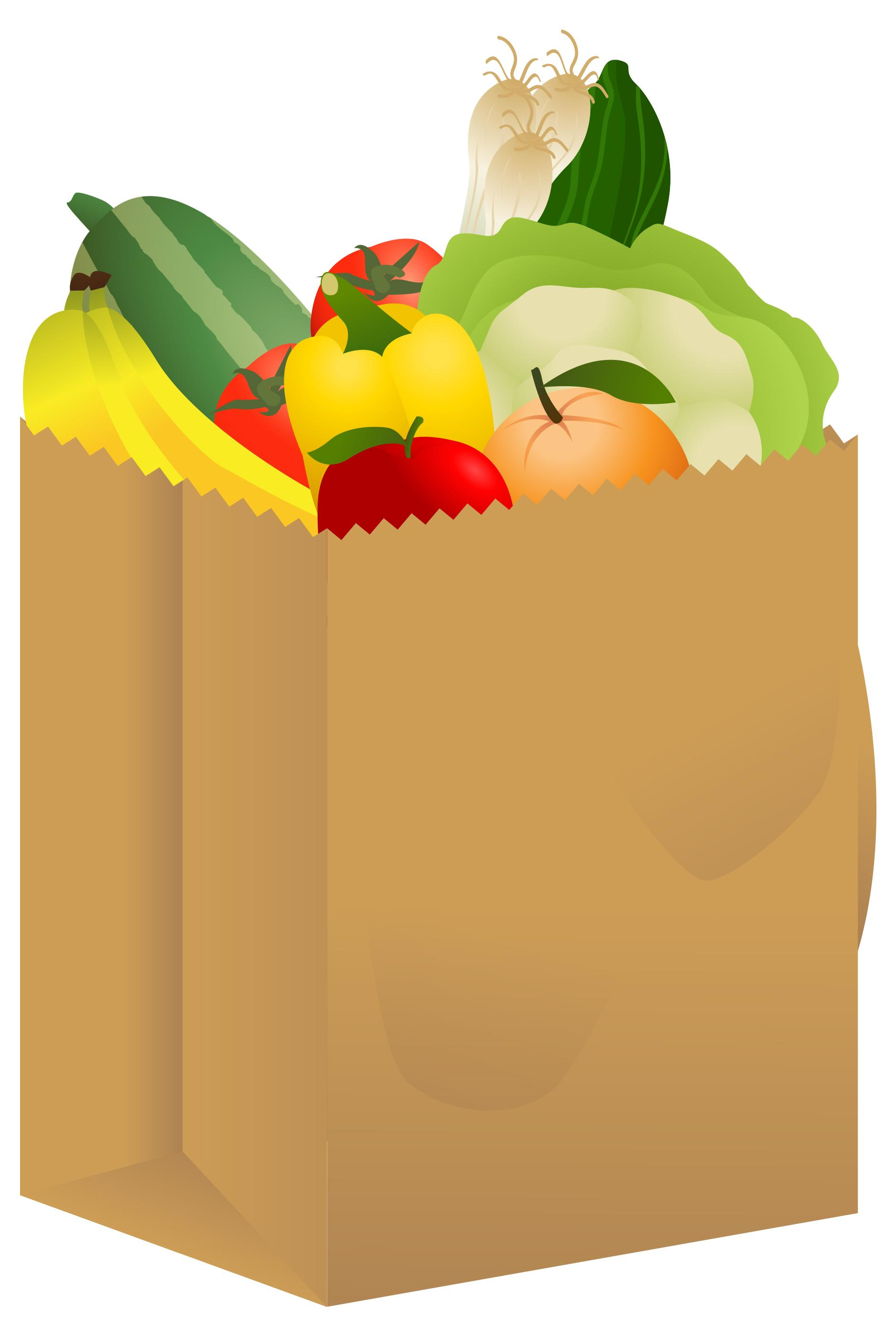 Shopping bags grocery bag clipart pictures.