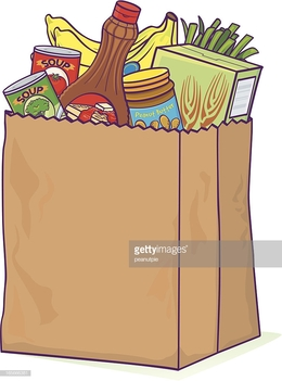 Download overflowing grocery bag clipart Paper Shopping Bags.