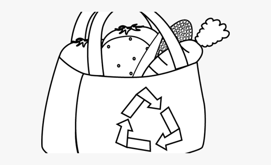 Shopping Bag Clipart Black And White.