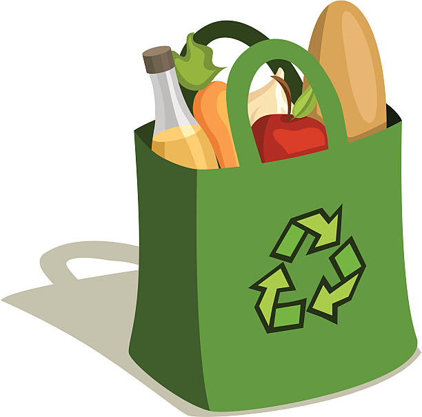 Best Reusable Grocery Bag Illustrations, Royalty.