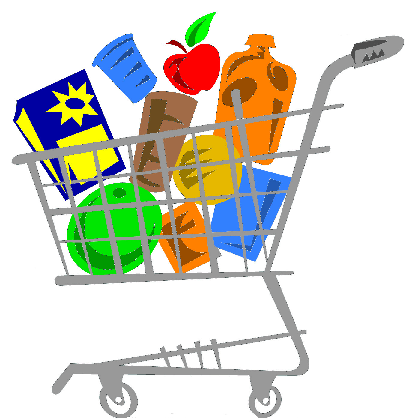 Free Grocery Cart, Download Free Clip Art, Free Clip Art on Clipart.
