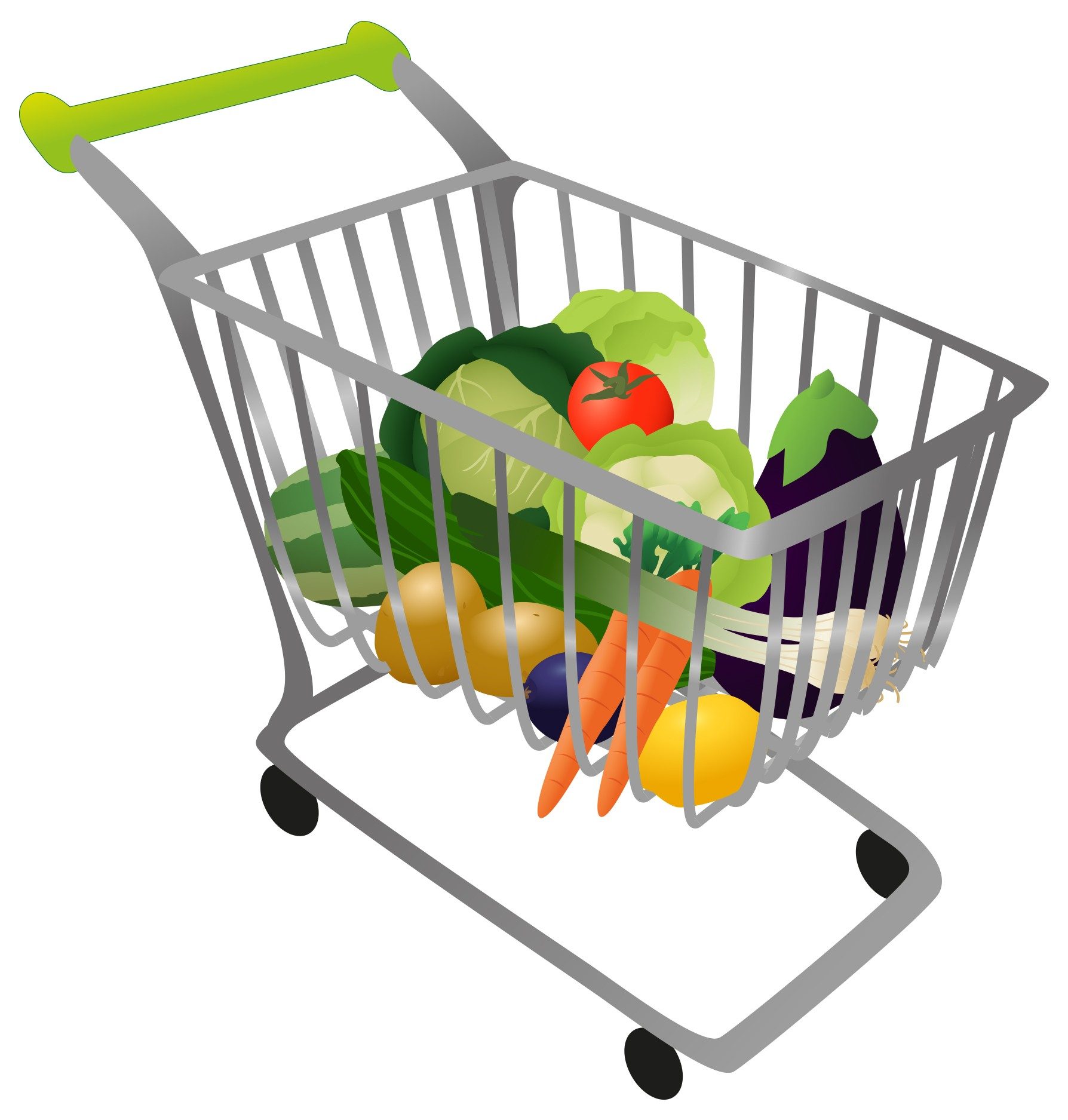 Grocery Cart Clipart.