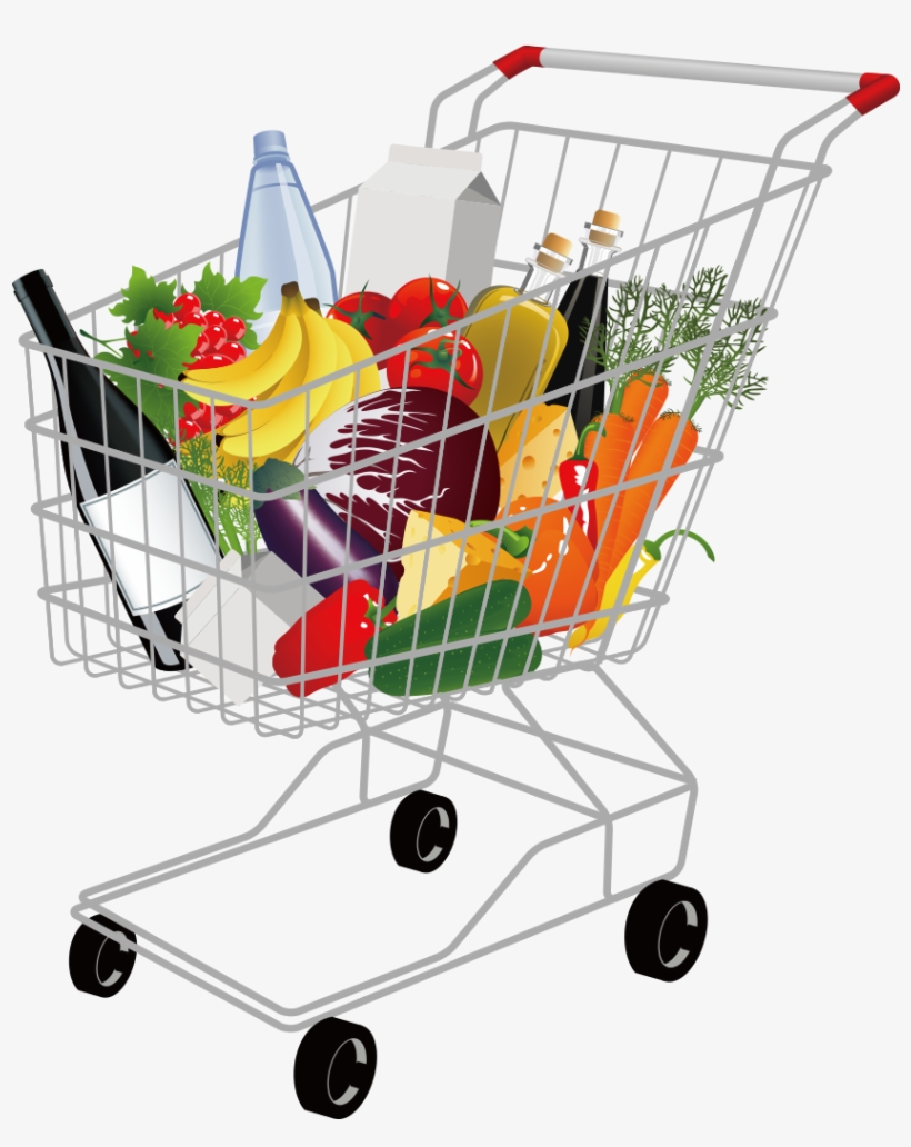Grocery Shopping Cart Png Pic.