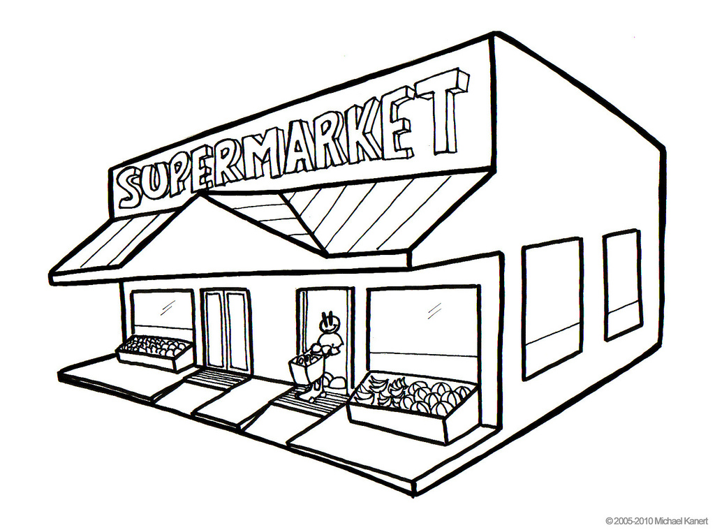 Free Grocery Store Clipart Black And White, Download Free.
