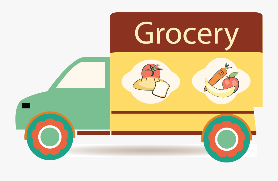 Grocery Clipart Grocery Truck.