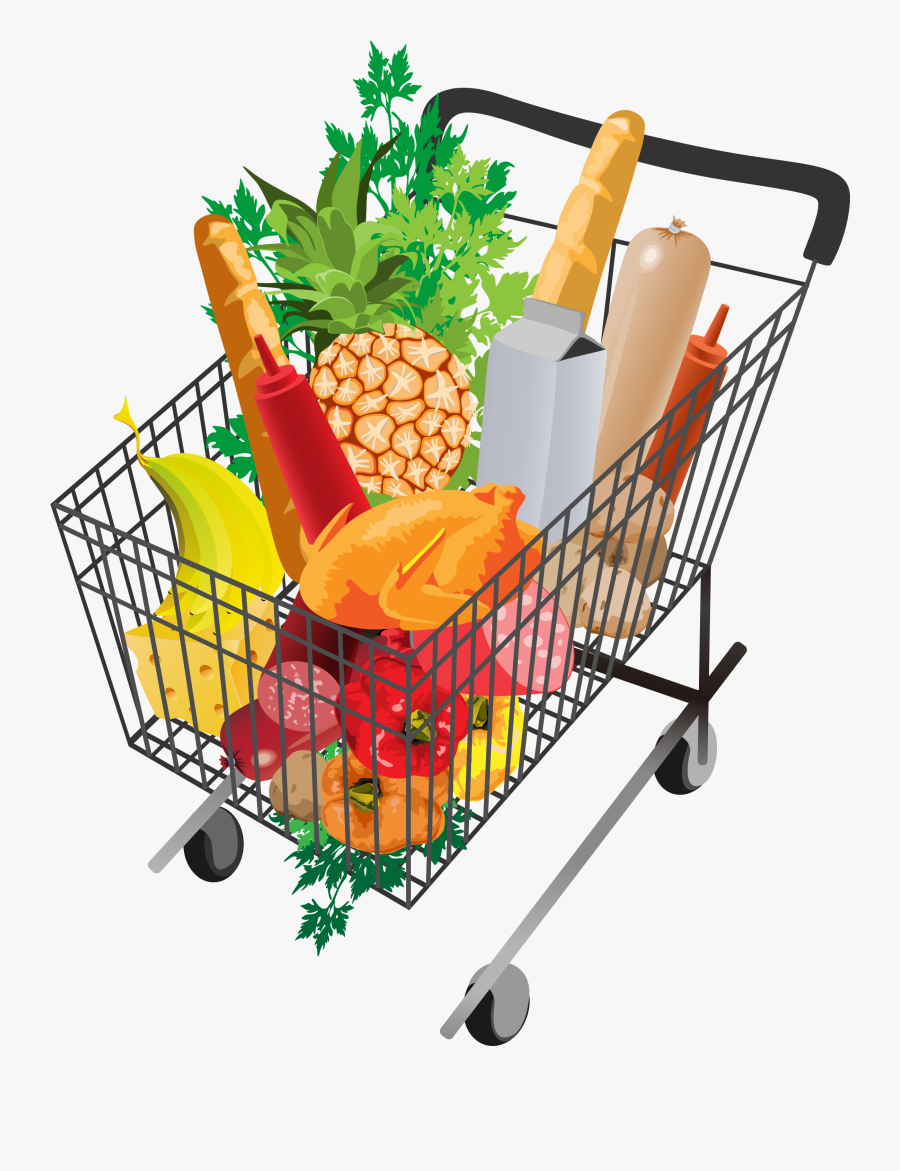 Grocery Shopping Cart Png Picture.