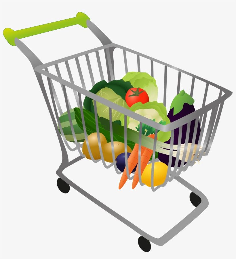 Grocery Shopping Cart Png High.