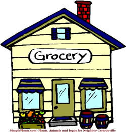 Showing post & media for Grocery store clip art cartoon.