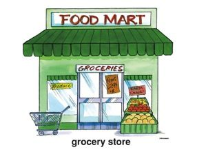 11 Awesome grocery store clipart.