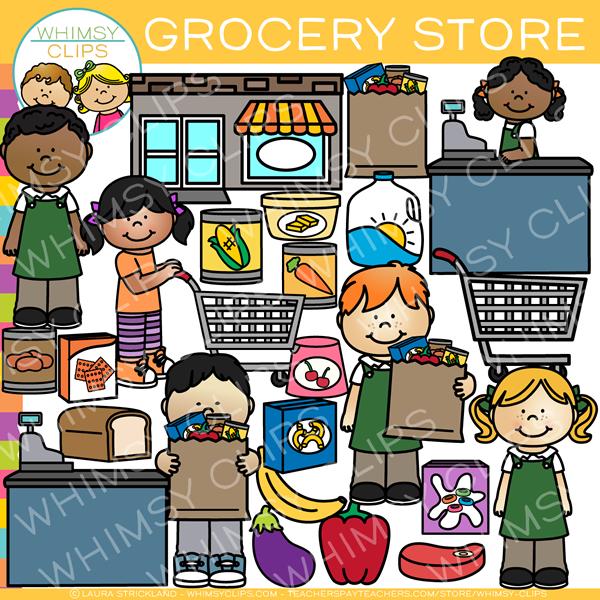 Kids Grocery Store Clip Art.